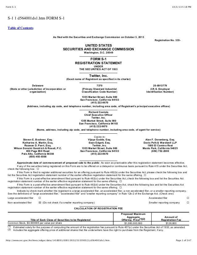 10/3/13 5:18 PMForm S-1 Page 1 of 247http://www.sec.gov/Archives/edgar/data/1418091/000119312513390321/d564001ds1.htm S-1 ...
