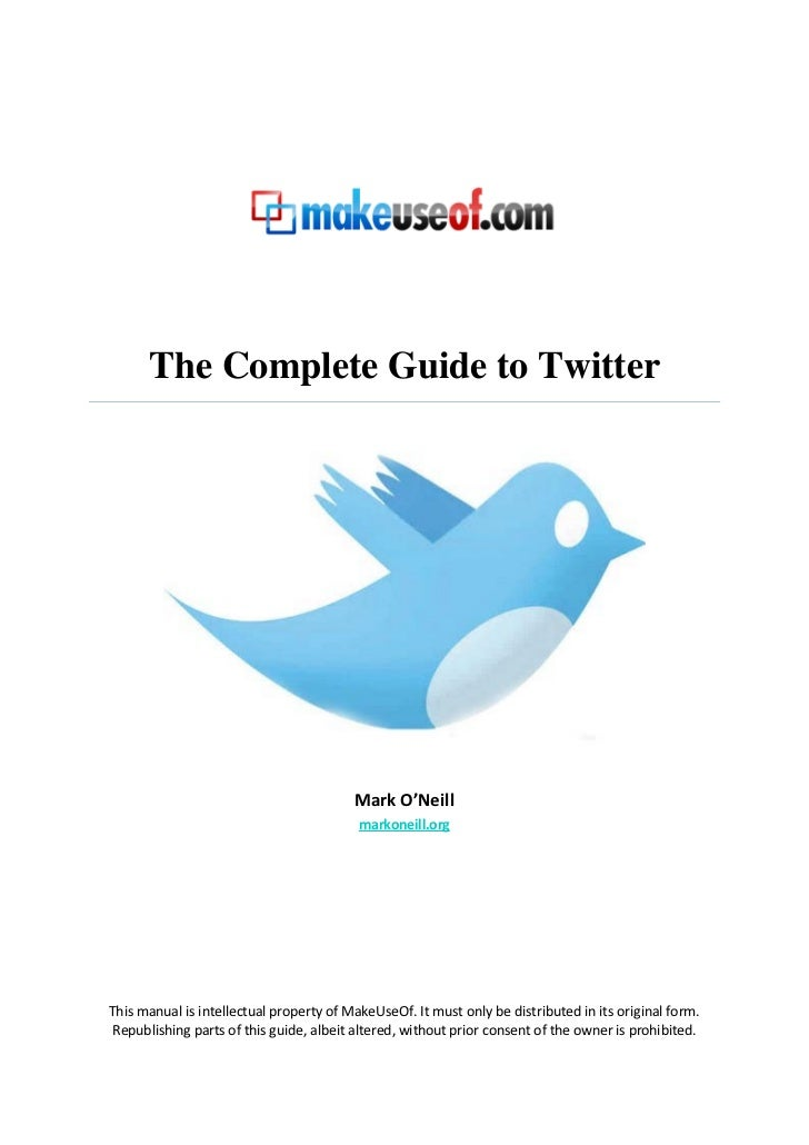 The Complete Guide to Twitter                                         Mark O'Neill                                        ...