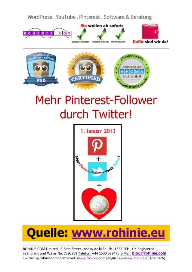 Mehr Pinterest-Follower durch Twitter