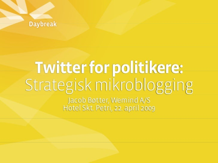 Twitter for politikere