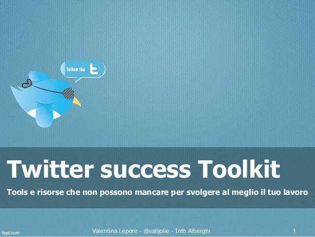 Twitter toolkit - WebReevolution 2012