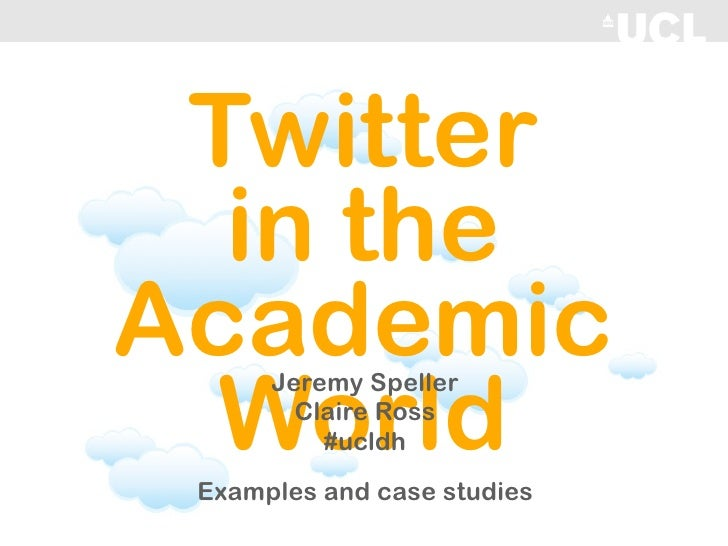Twitter in the Academic World