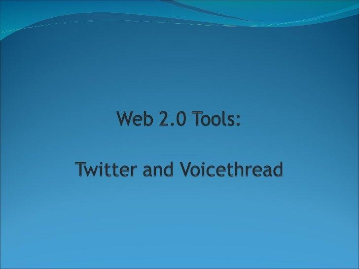 Twitter voicethread