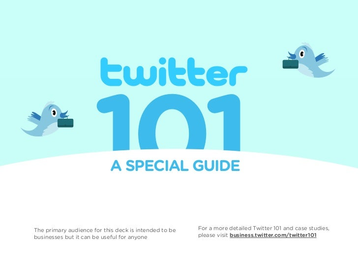 Twitter101 for business