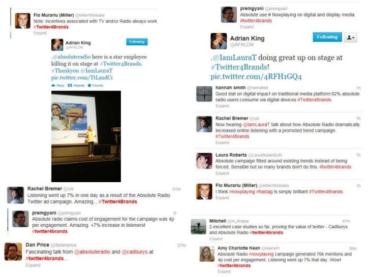 Twitter4brands #nowplaying feedback