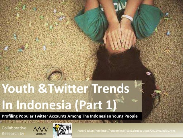 Youth &Twitter Trends In Indonesia (Part 1) Profiling Popular Twitter Accounts Among The Indonesian Young People Collabora...