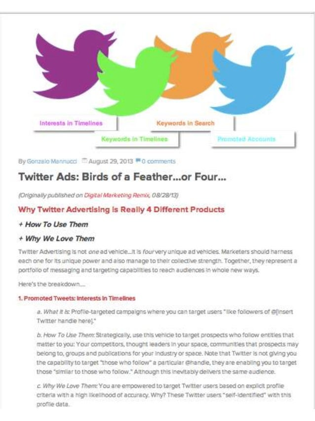 Twitter Ads: Birds of a Feather (or Four)