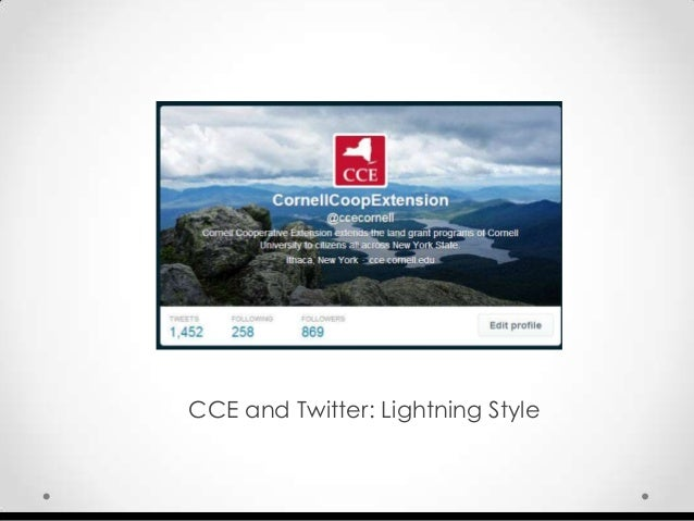 Twitter and Cornell Cooperative Extension: Lightning Style