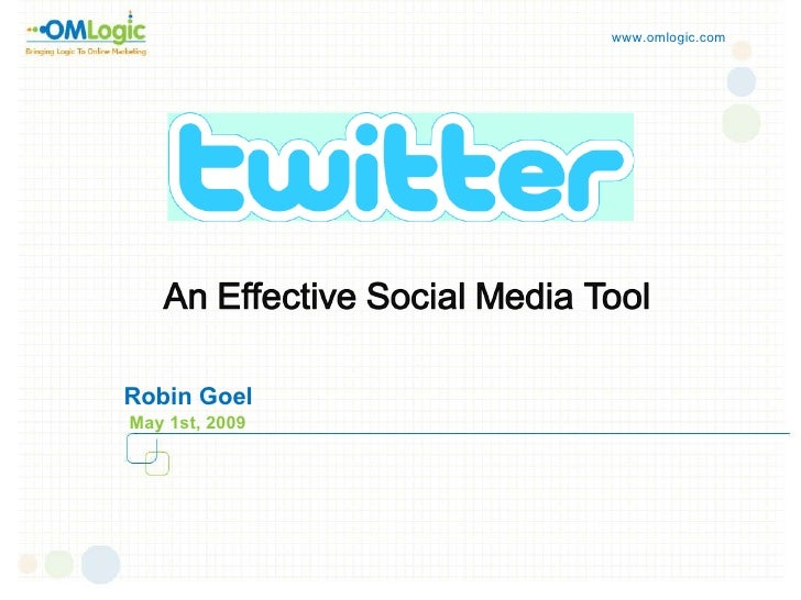 Twitter And Its Tools By Robin
