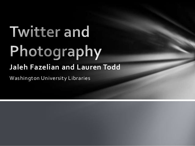Twitter and Photography