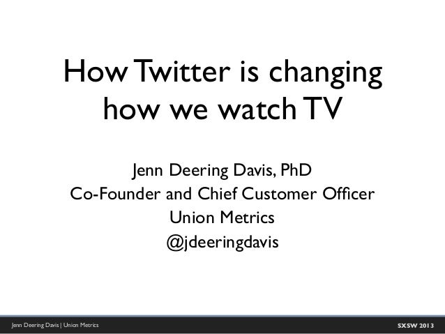 SXSW 2013: How Twitter is Changing How We Watch TV