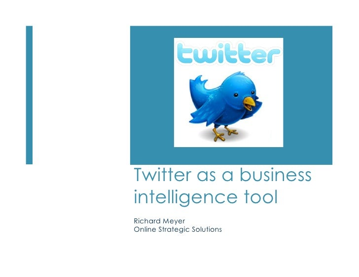 Twitter As Business Tool