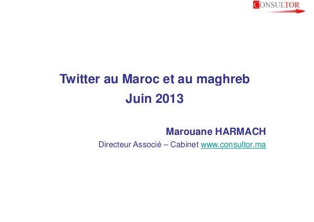 Twitter au maroc   consultor  marouane harmach