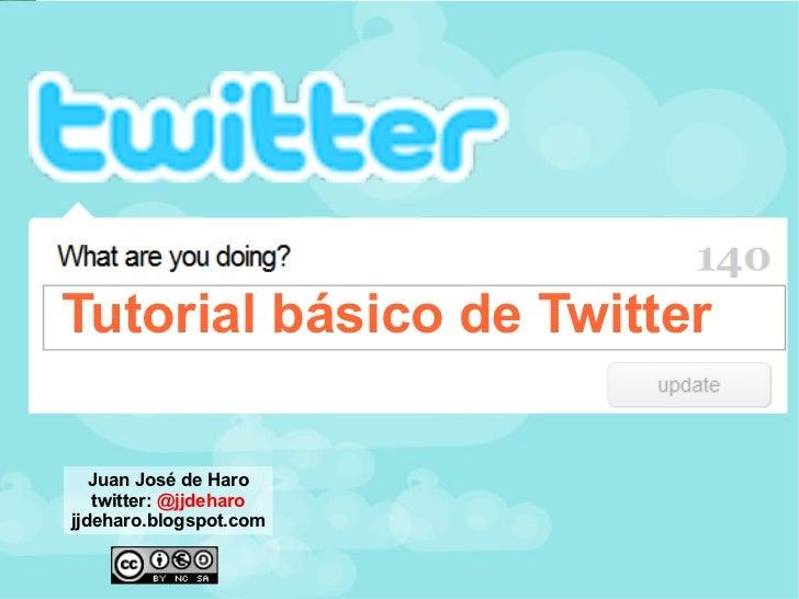 Tutorial básico de twitter