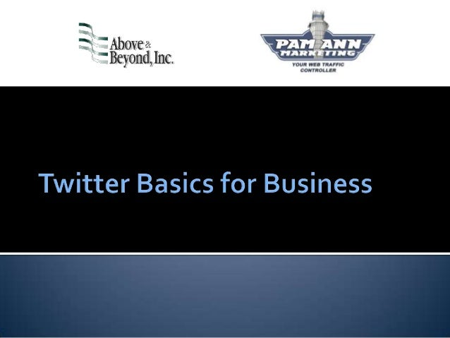 Twitter Basics for Business