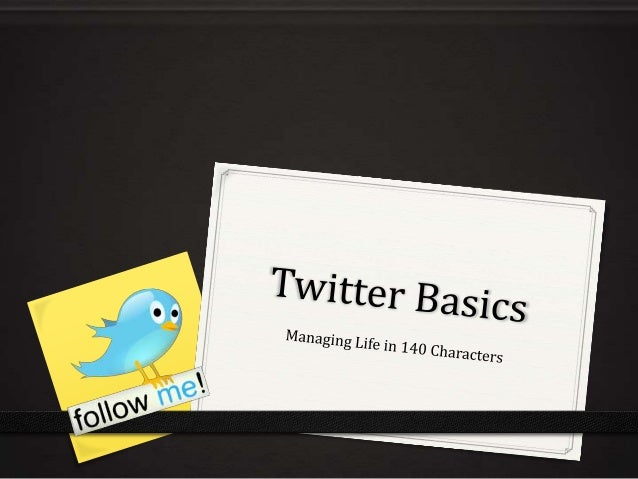 Twitter Basics Training