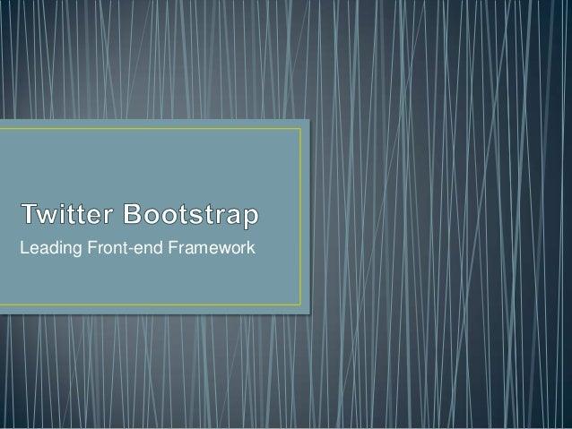 Leading Front-end Framework