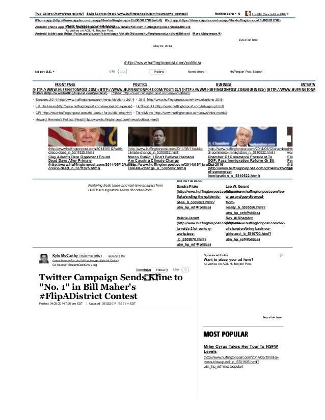 Politics (http://www.huffingtonpost.com/politics/) • Pollster (http://www.huffingtonpost.com/news/pollster/) • Elections 2014 ...