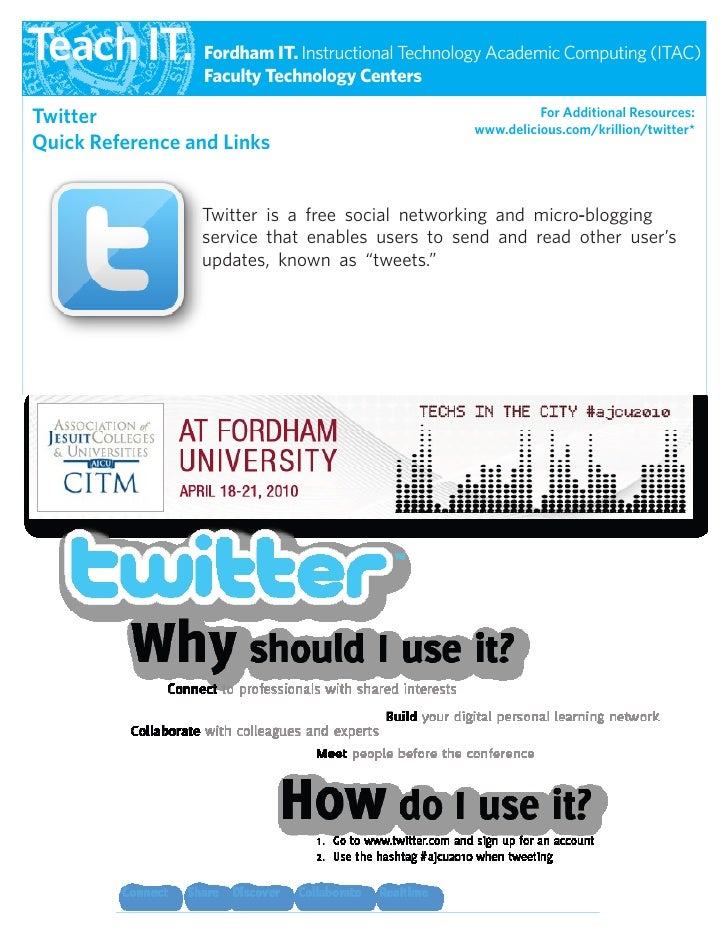 Twitter Quick Reference Guide