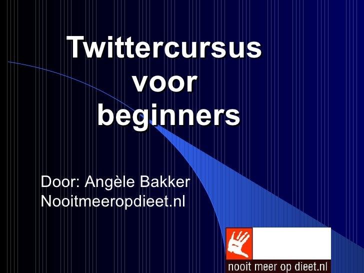 Twittercursus Voor Beginners