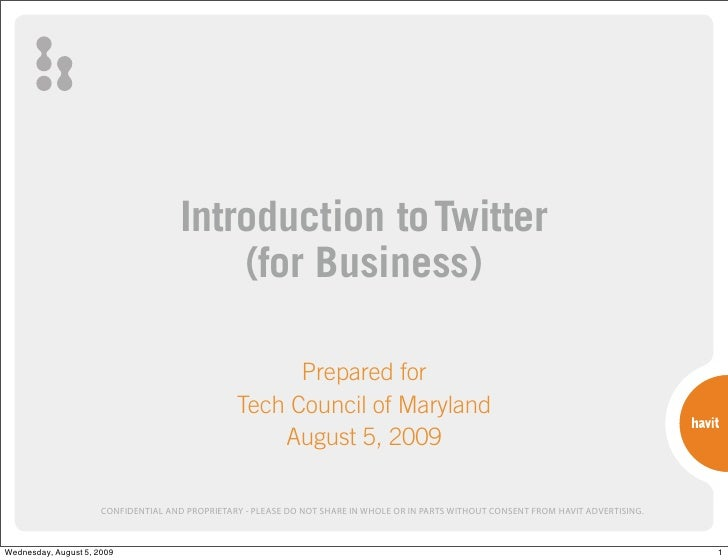 Introduction to Twitter                                           (for Business)                                          ...