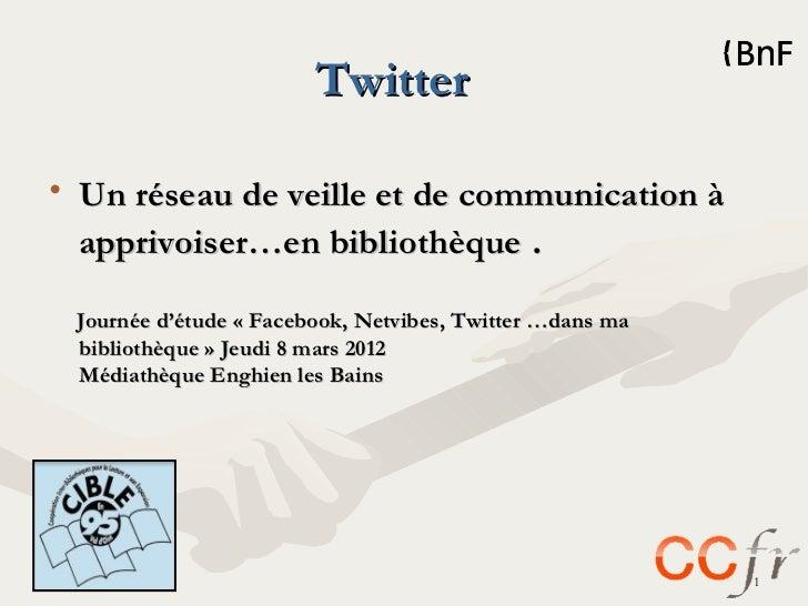 Twitter en bibliothèques