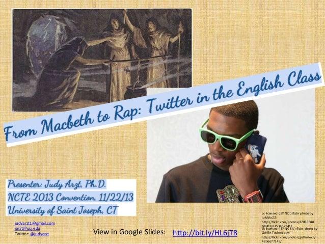 judyarzt1@gmail.com jarzt@usj.edu Twitter: @judyarzt  View in Google Slides: http://bit.ly/HL6jT8  cc licensed ( BY ND ) f...