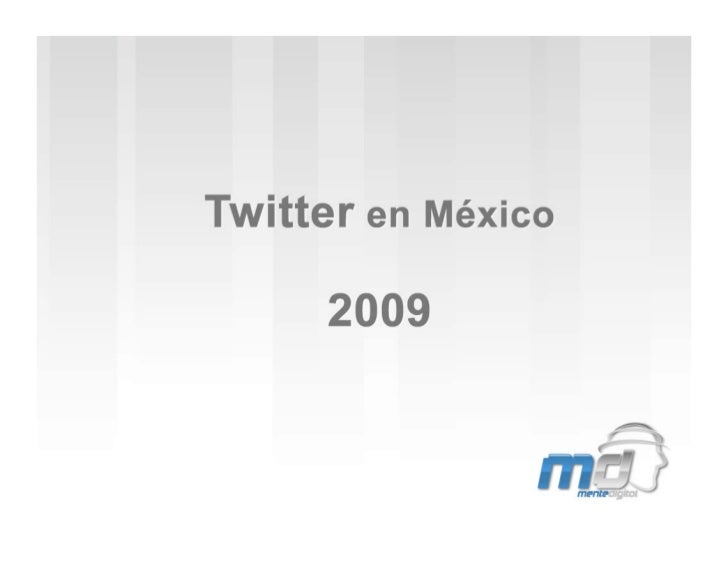 Twitter En Mexico 2009