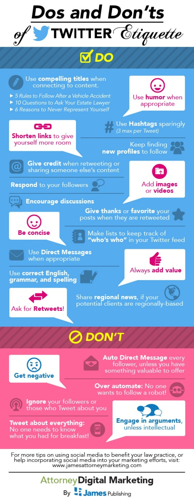 Twitter Etiquette Dos and Don'ts