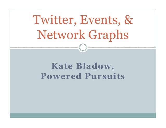 Twitter, Events, & Network Graphs   Kate Bladow, Powered Pursuits