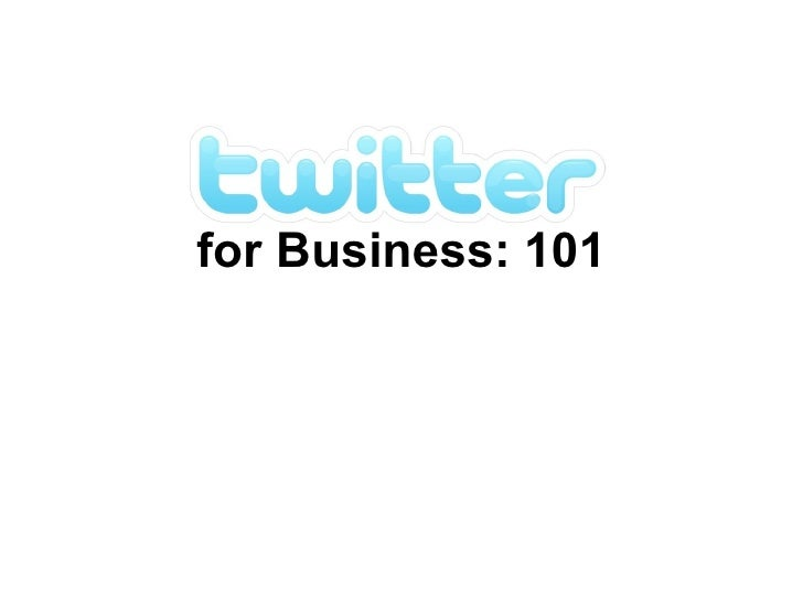 for Business: 101