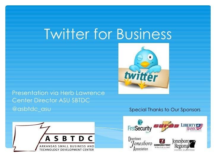Twitter for business June 2012