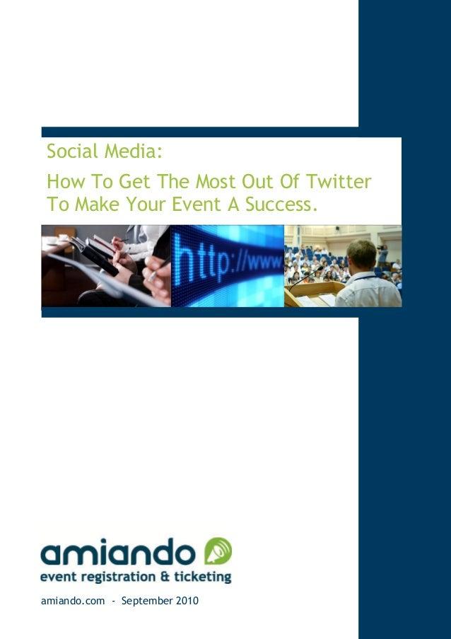 Twitter for Events - amiando Social Media Study