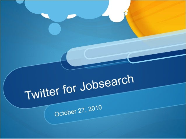 Twitter for jobsearch