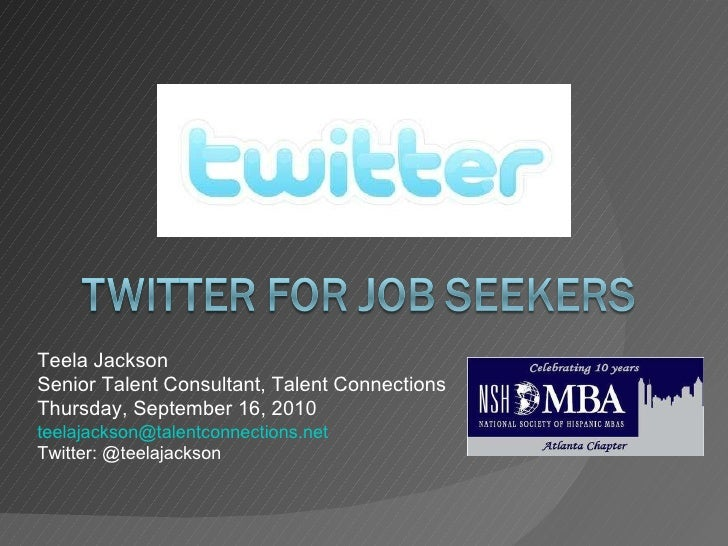 Twitter for Job Seekers