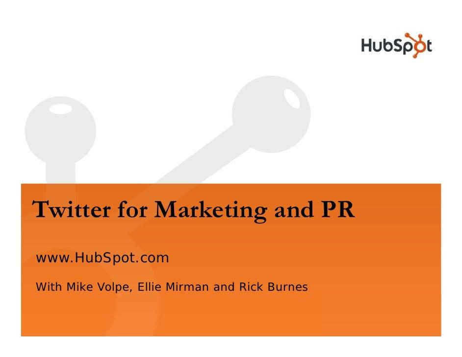 Twitter For Marketing Webinar Slides