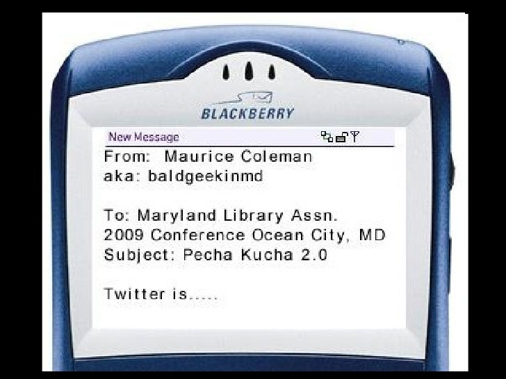 Twitter For Md Lib Assn. 2009 Pecha Kucha 2pointOh.