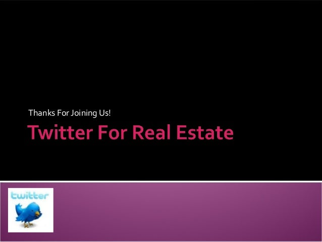 Twitter for real estate
