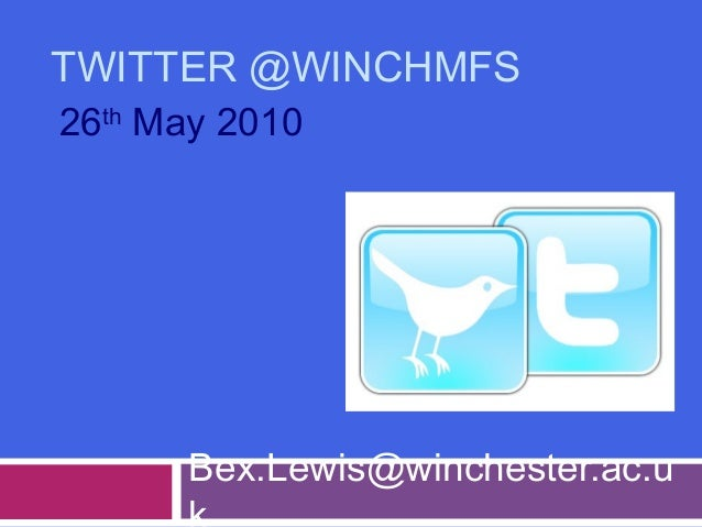 Twitter for @winchmfs
