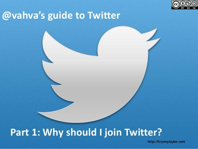 @vahva's guide to Twitter - Part 1 of 3 - Why should I join Twitter?