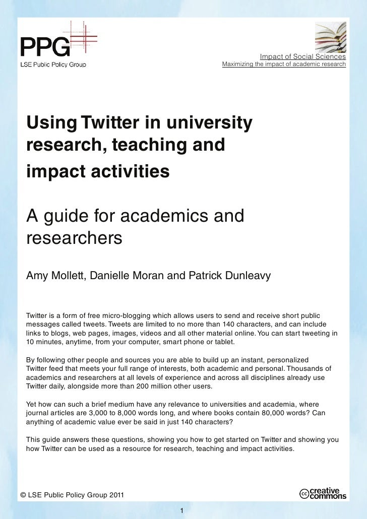Impact of Social Sciences                                                              Maximizing the impact of academic r...