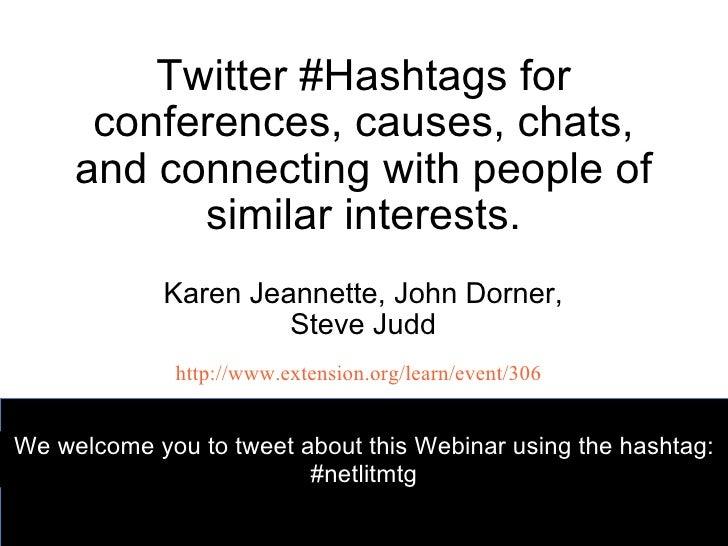 Twitter hashtags netlitwebinar10_7_11