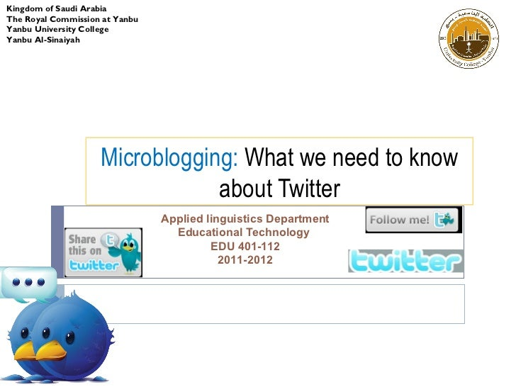 Twitter in efl classroom