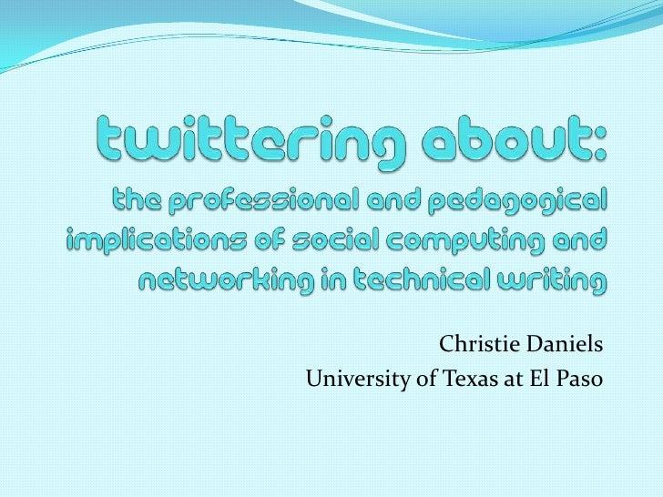 Christie Daniels University of Texas at El Paso