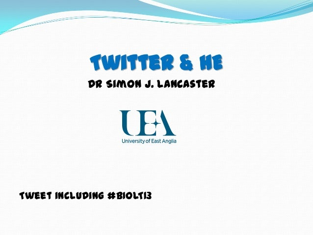 Twitter in Higher Education