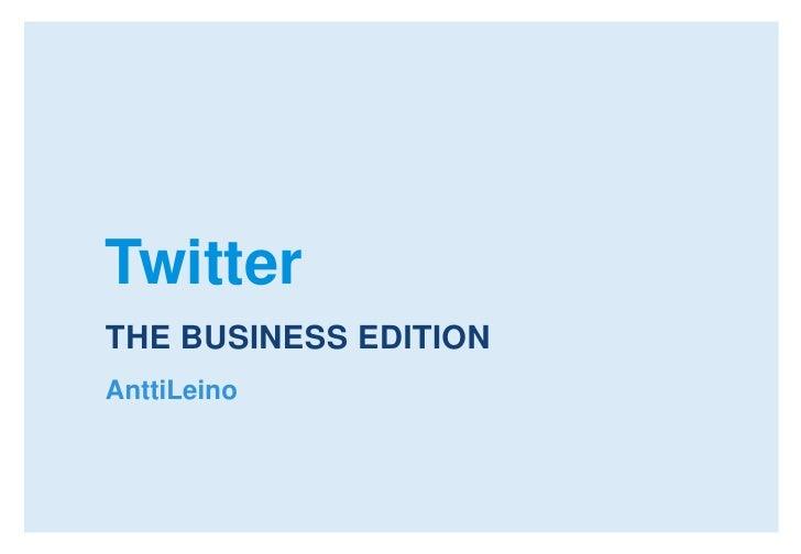 Twitter Korjaamo 9.2.2010