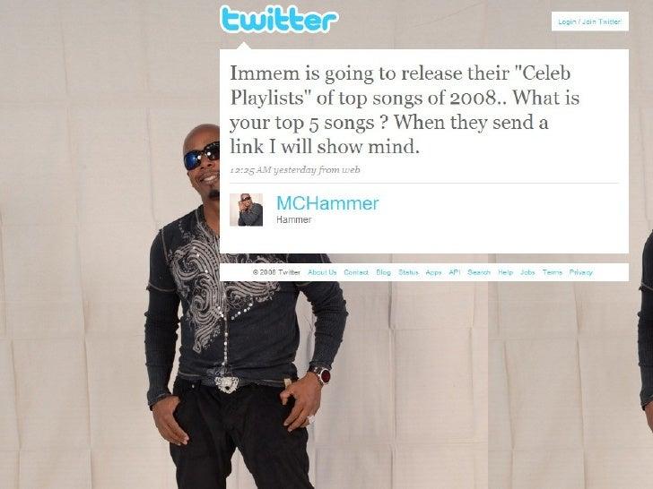 MC Hammer Replies to My Tweet on Twitter (12/19/08)