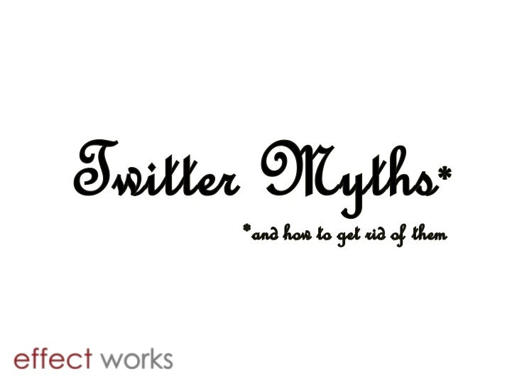 Twitter Myths