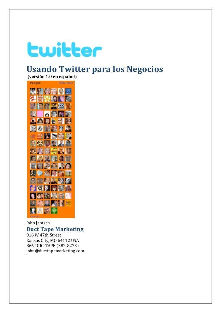 Usando Twitter para los negocios