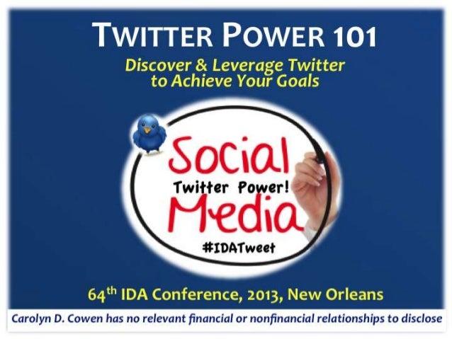 Twitter power 101 2013 IDA f38